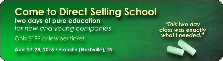 April 2015 Direct Selling School For Companies