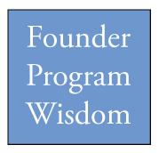 founder program wisdom